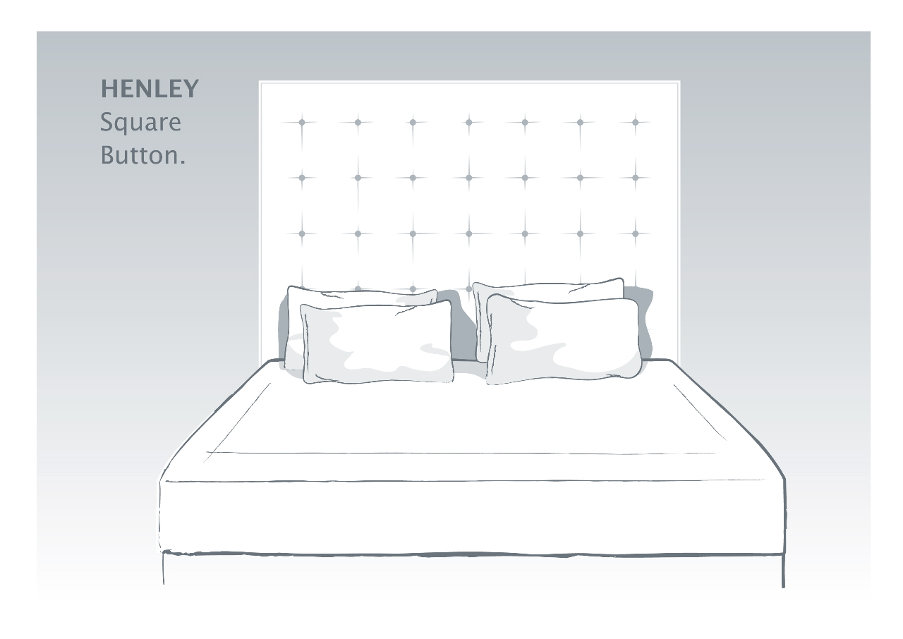Henley Bespoke Headboard with Square Buttoned Detail